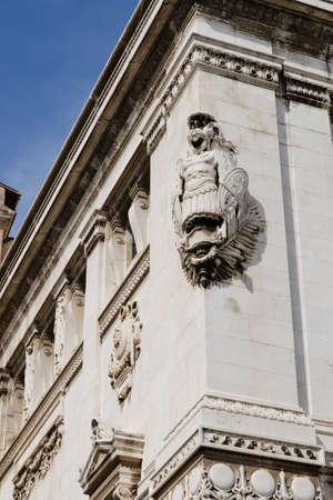 edifice: detail of decoration of Roman edifice, Rome, Italy Stock Photo