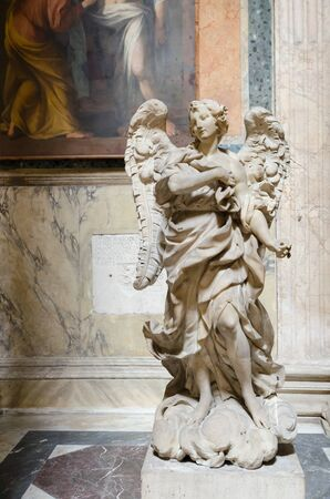 holy angel: angel statue, marble, Pantheon, Rome, Italy