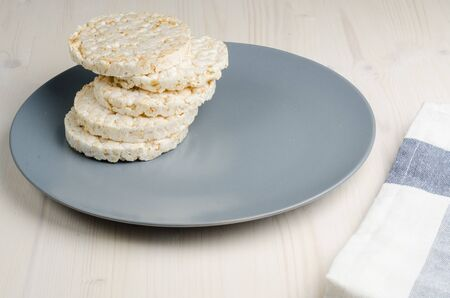 rice   cake: rice cake, puffed rice on table