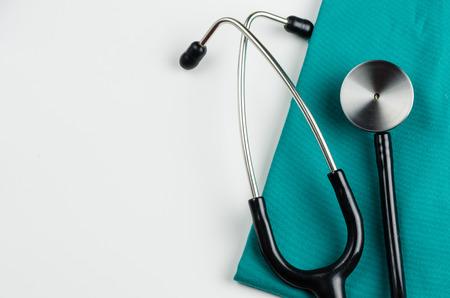 Examen médical, stéthoscope, la médecine et la thérapie, fond Banque d'images - 43696316