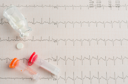 cardiological: medical examination, electrocardiogram, heart medicine and therapy