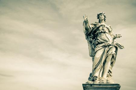 Angelo statua, Castel Sant'Angelo, Roma, Italia, stile vintage