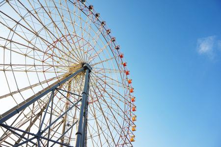 Big ferris wheel with clear blue sky