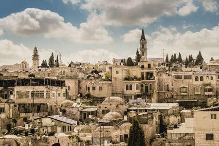 jewish houses: Old Jerusalem city view