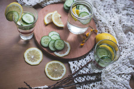 infused: infused water Stock Photo