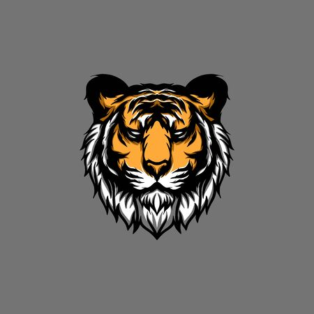 Illustration tiger head, creative illustration, creative design.