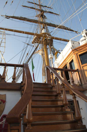 Details of historical italian tall ship Stock Photo - 16704731