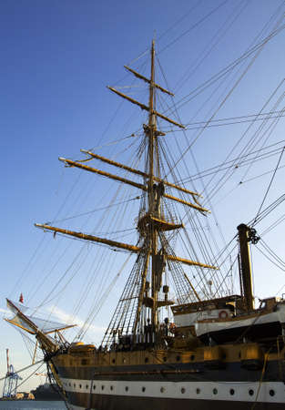 reverberation: Historical italian tall ship Editorial
