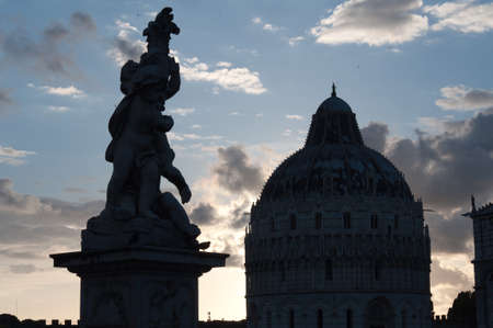 Details of Piazza Miracoli Pisa in Italy photo