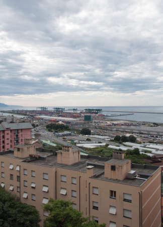 pra: Voltri and Pra in Genoa Italy Stock Photo