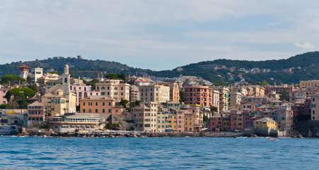 genoa: Boccadasse in Genoa Italy Stock Photo