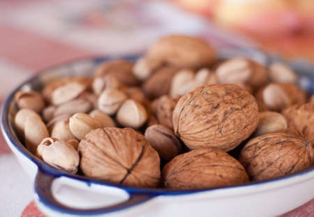 walnuts and pistachios fruit photo
