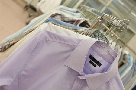 drycleaning: Shirts hanging stack