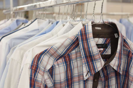 drycleaning: Shirts hanging stack