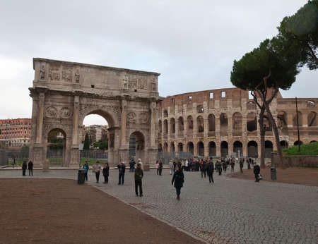 constantine: Colosseum and Arch of Constantine