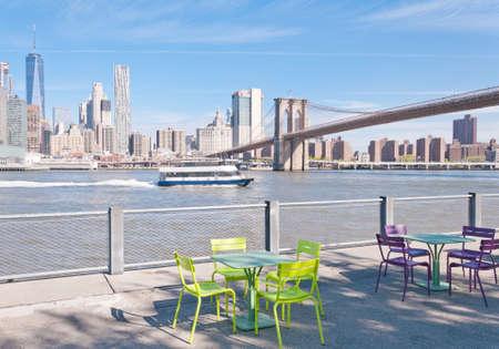 Details of Brooklin bridge in New York