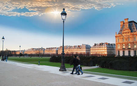 Walking through the Tuileries Garden  photo