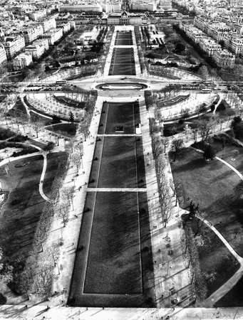 The Champs of Mars, view from Eiffel Tower. photo