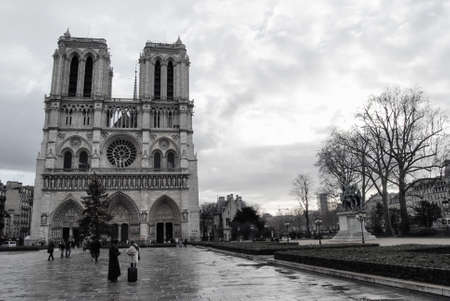 The Notre Dame Cathedral after a storm photo