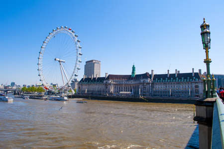 View the London Aquarium and the London Eye from Westminster Bridge