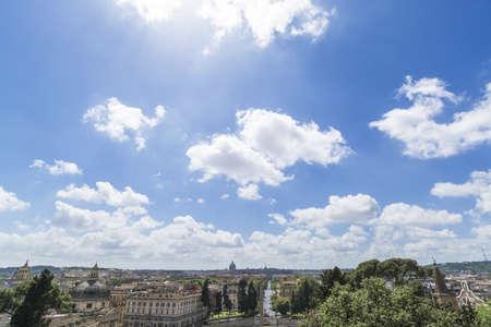 Lo skyline di Roma, con bel cielo