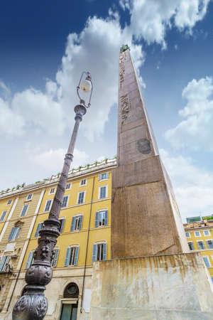 obelisco: The obelisk in Rome  Stock Photo