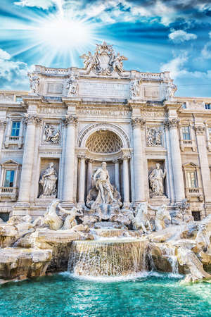 fontana: Fontana di Trevi view from the front  Stock Photo