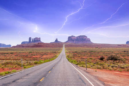 The entrance to the Monument Valley. photo