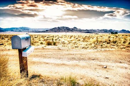 The mailbox in the desert  Banco de Imagens
