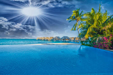 La mer en Polynésie Banque d'images