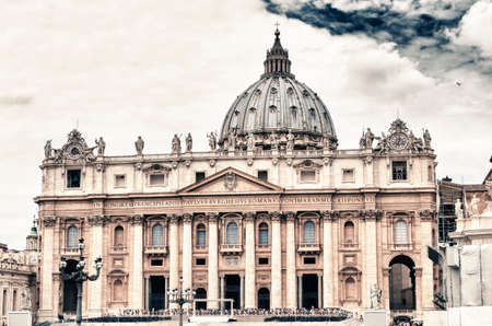The Vatican with beautifull sky. photo