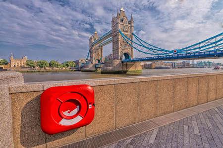 particolare: Particolare vista del London Bridge. Editoriali