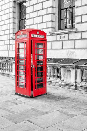 런던에서 영어 전화 상자. 스톡 콘텐츠 - 24286514