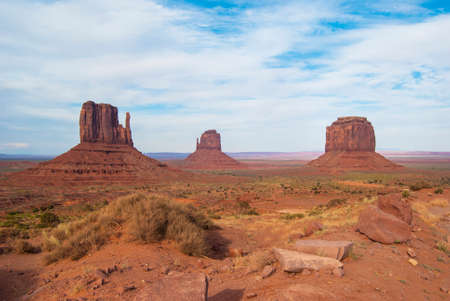 View of Monument Valley from Jhon Ford Point. photo