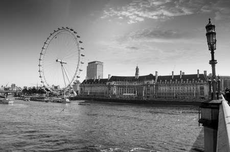 View the London Aquarium and the London Eye from Westminster Bridge.