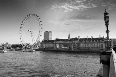 london eye: View the London Aquarium and the London Eye from Westminster Bridge.