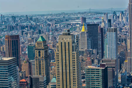 aereal: Beautiful aereal view of Manhattan Stock Photo