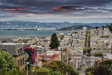 Beautiful view of San Francisco. photo