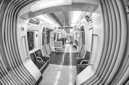 Inside the train. London underground.