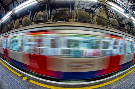 Passing train, London. photo