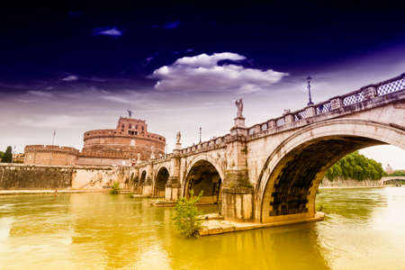 angelo: Castel St  Angelo Bridge, Rome  Editorial