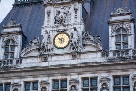 ville: Hotel De Ville - Paris. Editorial