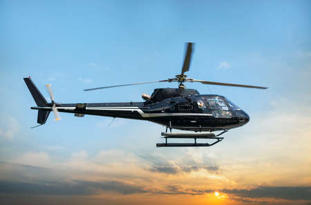 Helicopter for sightseeing. Editoriali