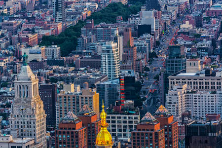 aereal: Aereal view of New York City. Stock Photo