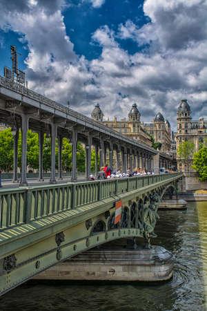 invalides: Bridge over the river Seine.