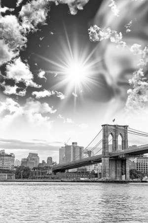Brooklyn Bridge with beautiful sky.