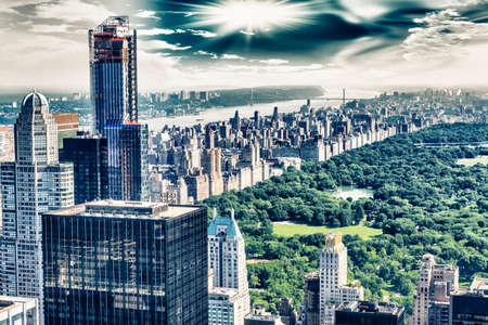 aereal: Aereal view of Central Park, NYC. Stock Photo