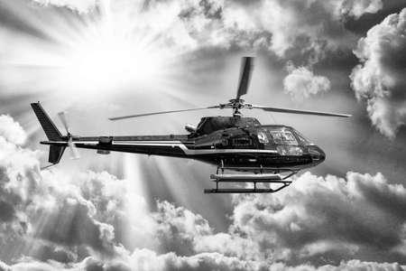 Elicottero per visitare la città. Archivio Fotografico - 27456279