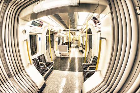 Inside the train. London underground.