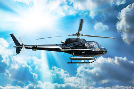 Helicopter for sightseeing. Editorial